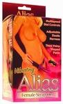 Alias - Strap-on gordel met 18 cm vibrator, lila