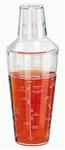 Kunststof cocktail shaker acryl 660 ml