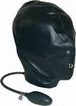 Opblaasbare Hood. Materiaal : Leder, One size fits - almost
