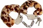 Fluffy Bont Handboeien Luipaardprint